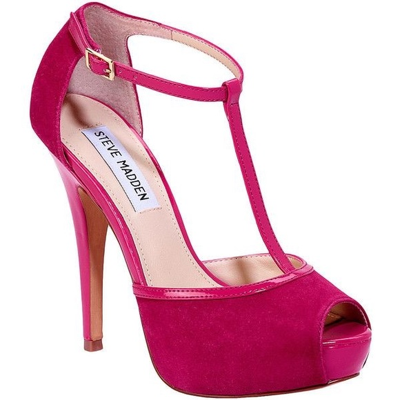 a1ed8ac60 Steve Madden Shoes   Maagie Pink Peep Toe Tstrap Pumps   Poshmark